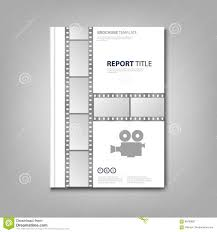 Old Brochures Brochures Book Or Flyer With Old Negative And Camera Stock Vector