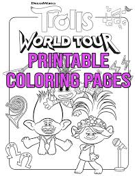 Free printable trolls coloring pages. Free Printable Trolls World Tour Coloring Pages Activities