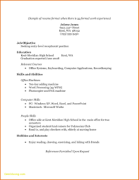 High School Resume Best Of College Resume Examples For High School