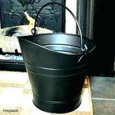 post fireplace ash bucket with lid buckets ash container fireplace bucket n