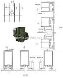 construction easy aluminum frameless glass curtain wall dwg