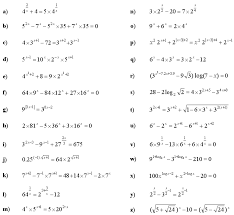 free collection of 40 worksheet on exponential equations
