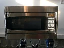stainless steel countertop microwave profile oven in counter look reviews with handle samsung 11 cu