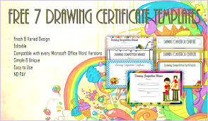 Drawing Competition Certificate Templates Word | Biya Templates