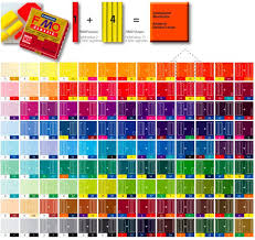 Clay Color Chart Fimo Classic Blending Table Clay Polymer Clay Jewelry