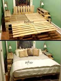wonderful no cost king pallet bed before and after 25 renowned pallet in bed frame cost attractive