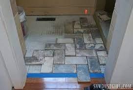 install tile flush with hardwood floors