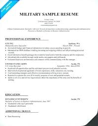 Military Resume Format Amazing Military Experience On Resume Noxdefense