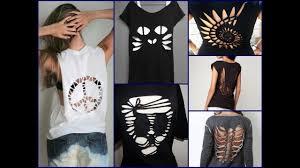 diy shirt cutting ideas no sew