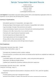 Passport Specialist Sample Resume Stunning Sample Transportation Specialist Resume Resame Pinterest