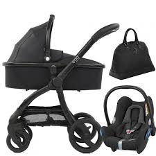 egg stroller with carrycot jurassic black special edition with maxi cosi cabriofix car seat