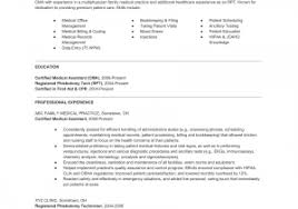Resume Template For Medical Assistant Free Sample Medical Assistant ...