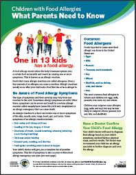 Babysitters and Caregivers: Food Allergy Plan and Form