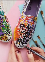 Diy Shoes Design Diy Fabric Shoe Design Painting Shoes Has Never Been Easier