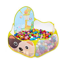 ball pit for babies. total dimensions are 39.4\u201d x 19.7\u201dx 14.6\u2033. we recommend ordering at least 200 of the 2.5\u2033 diameter ball pit balls to fill this toy. read more⇒ for babies