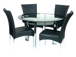 round glass dining table set for 4 glass dining table and 4 chairs round glass top