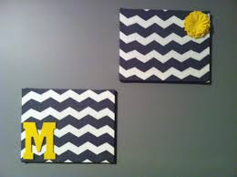 chevron canvas wall art diy