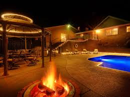 home swimming pools at night. Beaver Lake Home With Swimming Pool Pools At Night