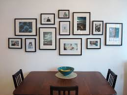 Wall Picture Frame Arrangement For Family Photos
