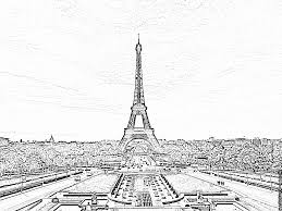 Coloriage Sa Majeste La Tour Eiffel Imprimer Pour Les Enfants