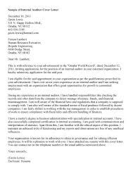 resume cover letter internal position free internal audit cover letter