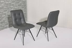 modern grey faux leather dining chairs