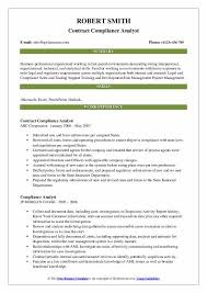 contract compliance resume compliance analyst resume samples qwikresume