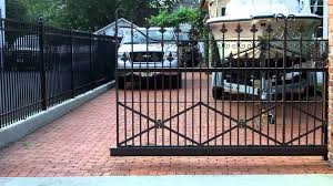 wrought iron fence gate. Wrought Iron Sliding Gate Using Our Cantilever Hardware Fence