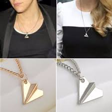 one direction harry styles paper airplane pendant necklace chain uni jewelry
