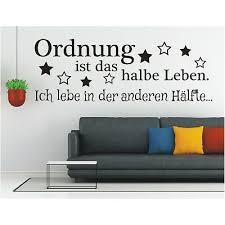 Wandtattoos Wandbilder Dekoration Wandtattoo Spruch Kluge Ordnung