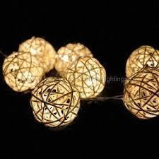 Decorative String Balls Interesting LED Rattan Ball String Light Decorative Lights For Grand Wedding