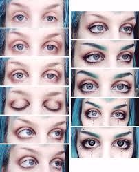 doll like dark mori makeup making eyes look bigger