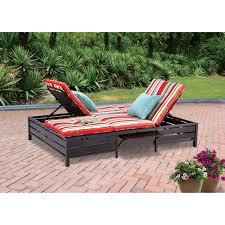 Mainstays Double Chaise Lounger Tan Seats Walmart Lounge Chair