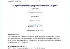 Hotel Housekeeping Resume Sample From Hospital Housekeeping Resume