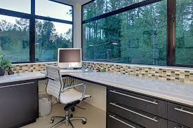 office countertops. Contemporary-home-office -contains-of-modern-desk-with-grey-drawers-and-gloss-white-countertops -a-computer-and-modern-work-chair.jpg Office Countertops Y