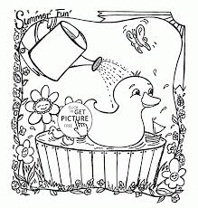 Small Picture Cute Ducks coloring page for kids summer coloring pages