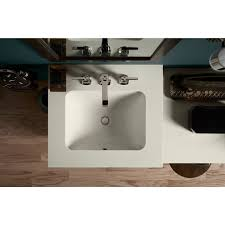 undermount rectangular bathroom sink faucetcom k 20000 0 in white by kohler