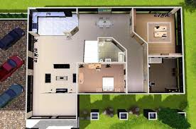 Home Design  Modern House Plans Sims  Interior Designers - Modern house plan interior design