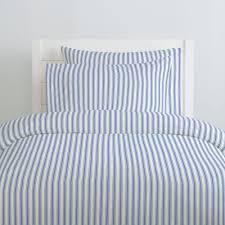 ocean blue ticking stripe duvet cover