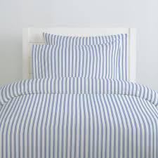 ocean blue ticking stripe duvet cover