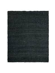 black jute rug round dot lost design society