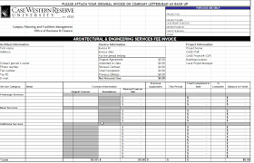 Invoice Template Microsoft Excel Service Proforma Fascinating Free
