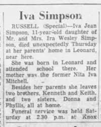 Iva Jean Simpson death Ottawa Citizen April 22, 1957 page 4 - Newspapers.com