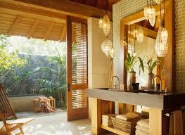 tropical bathroom lighting. Interesting Master Bath Tropical Bathroom Design Interior Decorated With Small Vanities Furniture Ideas Lighting K