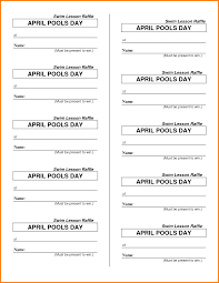Free Template Of Tickets For Fundraiser Printable Food