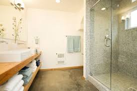 Heated Bathroom Floor Cost Beauteous Concrete Bathroom Flooring