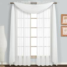 com united curtain monte carlo sheer window curtain panel 59 by 108 inch white set of 2 home kitchen