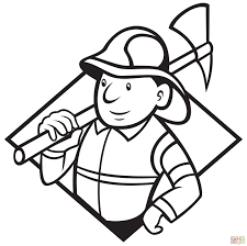 Small Picture Fire Fighter Coloring Page Good Peppa Pig Want To Be A Great