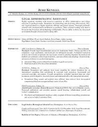 Examples Of Administrative Resumes Adorable Cover Letter Sample For Paralegal Job Resume Examples Litigation