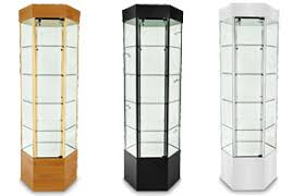 Free Standing Display Cabinets Glass Showcases Countertop FloorStanding Tower Style Displays 47